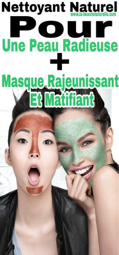 Nettoyant naturel pour une peau radieuse + Masque rajeunissant et matifiant Aleo Vera, Hair Beauty, Skin Care, Cosmetics, Tips, Stuff Stuff, Other, Natural Cleaners, Beauty Products