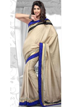 Cream Banarassi Cotton #Saree