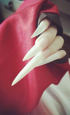 Long Natural Nails, Long Fingernails, Long Stiletto Nails, Love Nails, Nail Art, Sexy, Long Nails, Coffin Nails, Nail Arts
