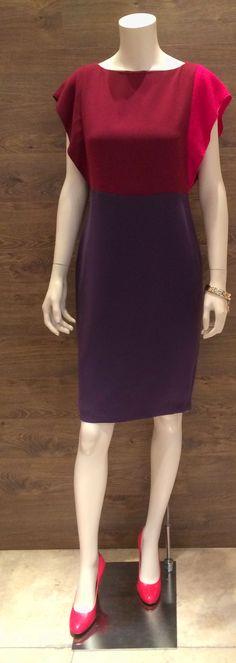 """SS 2014 Max Mara: """"Getto"""" tricolour dress   Max Mara """"Pinicio"""" leather heels.  Prices on request."""