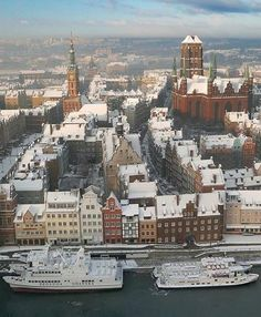 Is skiing not your thing? Try bison tracking, go on a sleigh ride, or relax in a winter spa! There are lots of Poland destinations waiting for you this Christmas! Poland is one of the best Christmas d Gdansk Poland, Warsaw Poland, Danzig, Poland Destinations, Travel Destinations, Holiday Destinations, Cool Places To Visit, Places To Go, Places Around The World