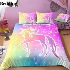 Glowing Unicorn Bedding Set In 2019 Unicorn Love