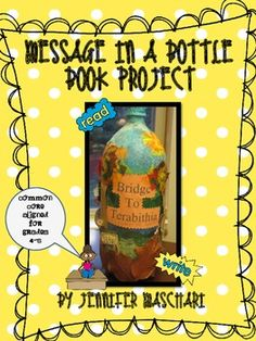 Message in a Bottle Book Project - a great Common Core aligned project that could be used after an independent read, lit circles or even a whole class novel. Students identify theme, describe character, setting, and POV. Includes standard alignment, teacher and student instructions, student handouts, and rubric. $3.25