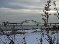 Robert Moses NY Longisland Winter Bridge
