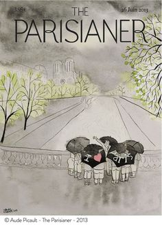 Imaginary Parisian Magazine Covers inspired by the New Yorker