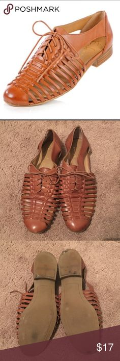 Franco Sarto Sandals Tan leather Franco Sarto Sandals...used condition...some scuffing (see last two pics) Franco Sarto Shoes Sandals