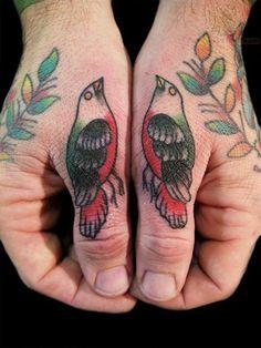 Twin Birds Tattoo #tatts #ink #tattoo