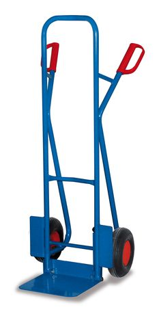 GTARDO.DE:  Stahlrohrkarre mit Klappschaufel, Tragkraft 250 kg, Maße 572 x 524 x 1300 mm, Schaufel 320 x 255 mm, Rad 260 x 85 mm 124,00 €