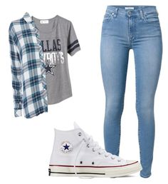 """""""Untitled #7"""" by transvergent on Polyvore featuring Old Navy, 7 For All Mankind, Rails and Converse"""