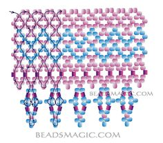 Free pattern for necklace Festival - 2----------seed beads 11/0 bicons 4 mm, pearl beads 6 mm, 2 cuts seed beads