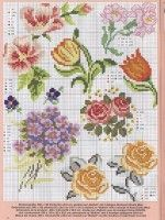 Step-by-Step Embroidery: Cross Stitch - Flowers Small Cross Stitch, Cross Stitch Heart, Cross Stitch Cards, Cute Cross Stitch, Cross Stitch Borders, Cross Stitch Flowers, Cross Stitching, Cross Stitch Embroidery, Embroidery Patterns