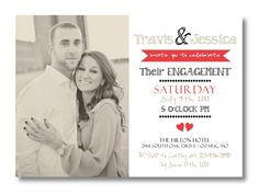 Printable Engagement Invitation by PerfectlyPrintables on Etsy, $19.00