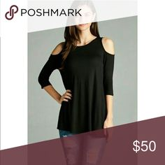 Submit Offer•Sage Cold Shoulder Top💕Boutique NWOT Cold Shoulder Swing Top 💕 • Brand New • NWOT Boutique  • 95% Rayon • 5% Spandex  • very flattering, comfy material • Sage (Green) - Sage color is slightly darker than shown in photo • small, medium or large available   💋 • NOT VS PINK BRAND ONLY PUT THAT FOR VISIBILITY• PINK Victoria's Secret Tops Tunics