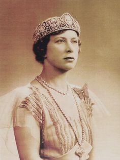 The younger Princess Mary, wearing her all diamond version of the scroll tiara at some point in the 1920's