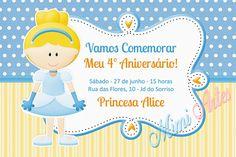 Convite Digital Princesa - Cinderela