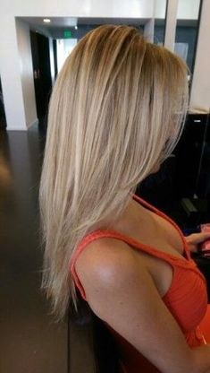 Baby blonde balayage highlights by Kelly Jelic