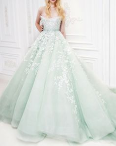 adore this mint wedding dress.