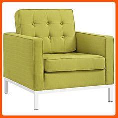 Modway Loft Fabric Armchair, Wheatgrass - Improve your home (*Amazon Partner-Link)