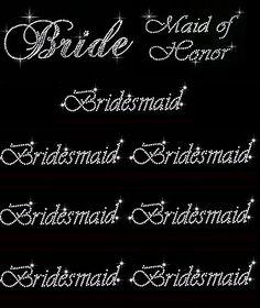 Lot of 9 Rhinestone Wedding Iron on Transfer (1 Bride) (1... https://www.amazon.com/dp/B01EXFWIKC/ref=cm_sw_r_pi_dp_x_7iNDzbXZDZF1W