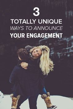 Want to make a statement with your engagement announcement? Use one of these 3 unique ways! | http://weddingpartyapp.com/blog/2013/12/03/cool-way-announce-engagement-unique-creative/