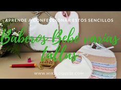 Babero Bebé Varias tallas - YouTube Sewing Baby Clothes, Baby Sewing, Bebe Baby, Baby Crafts, Kids Gifts, Craft Tutorials, Reusable Tote Bags, Embroidery, Knitting