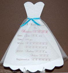 Handmade wedding dress bridal shower invitation you could send them myneed2craft bridal shower invitations filmwisefo Images