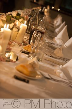 An elegant reception setting