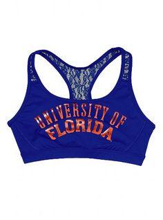 University of Florida Lace Yoga Bra - Victoria's Secret PINK - Victoria's Secret..so cute, love the lace