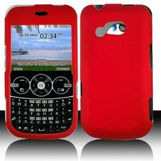 LG 900G for Stright Talk  Net 10 Accessory - Rubber Red Hard Case Proctor Cover