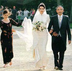 Prince Michael of Greece and his daughter Princess Alexandra at her wedding