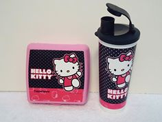 b1d23556e2 Amazon.com  Tupperware Hello Kitty Dancing Lunch Sandwich Square Tumbler  Set Pattern  Kitchen   Dining