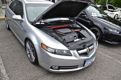 Notice the water-dipped engine shrouding. Acura Sports Car, Acura Tsx, Type S, Japanese Cars, Sexy Cars, Car Audio, Car Show, Sport Cars, Cars And Motorcycles