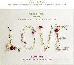 The #Valentines Collection is here! See all the #gifts we love at #shopterrain January 21