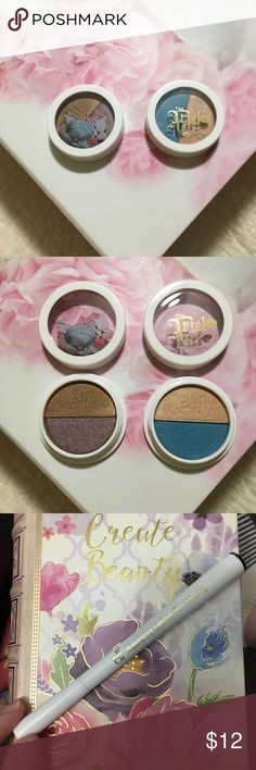 """Ariel 🧜🏼♀️ Elf makeup From the Elf Disney collection. This is the eye shadow duo-""""high tide"""" & """"coral reef"""" an the waterproof eyeliner pen. Brand new never used just missing the box they came in. ELF Makeup Eyeshadow"""