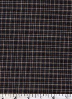 Dunroven House H-55  Black ~ Wheat ~ Red  Plaid  Homespun Fabric ~ You Pick
