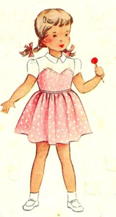 McCall's Girls Dress Pattern 8128 Size 2 1950 by SewReallyCute, $6.00