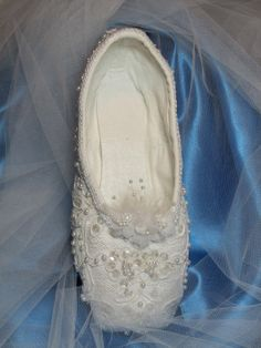 The Twelve Dancing Princesses, or  Exquisite Sleeping Beauty theme decorated pointe shoe