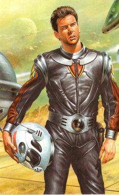 Perry Rhodan, Sci Fi Characters, Fictional Characters, Space Hero, Photoshop Ideas, Science Fiction Art, Pulp Art, Sci Fi Fantasy, Retro Futurism