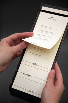 menu type booklet #design