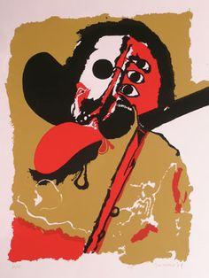 """#Guinovart """"S/T"""", 1971. Serigrafía sobre Pantallas de 58x47 cm., Papel Cartulina de 300 gr. de medidas 70x50 cm. Ej.: 75+ 10 PA #art #serigraph"""
