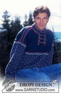 Nordic - Free knitting patterns and crochet patterns by DROPS Design Knitting Patterns Free, Free Knitting, Free Pattern, Crochet Patterns, Drops Design, Etnic Pattern, Jumper, Men Sweater, Magazine Drops