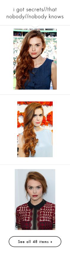 """i got secrets//that nobody//nobody knows"" by amazinglycoolpancakemermaid ❤ liked on Polyvore featuring holland roden, hair, teen wolf, people, holland, emma underwood, accessories, eyewear, sunglasses and glasses"