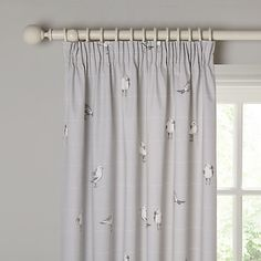 Buy John Lewis Coastal Birds Pair Printed Lining Pencil Pleat Curtains, Blue Grey, x Drop from our Ready Made Curtains & Voiles range at John Lewis. Bedroom Black, Bedroom Green, Bedroom Decor, Budget Bedroom, Master Bedroom, Wall Decor, Yellow Bedding, Black Bedding, Bedroom Paint Colors