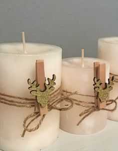 Kerzen dekorativ schmücken