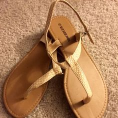Tan snake print sandal size 10 Worn once, great style shoe, perfect for summer. No wear or tear. Pet/smoke free home Sandals  Shoes