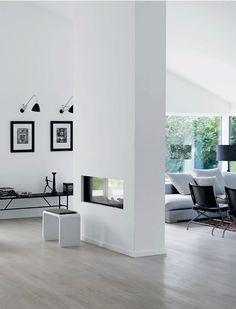 Black forest home with modern minimal interior - via cocolapinedesign.com