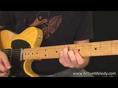 Rock / Blues Rhythm Guitar Lesson (Key of A) - YouTube