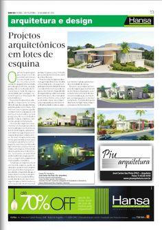 92° Jornal Bom Dia - Projetos Arquitetônicos em lotes de esquina 31-05-13