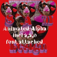 DesignByNettis: Valentine Extras and Alpha FREEBIE I just felt like doing something special to share with You all for #valentinesday ... so I created an #animated #alpha -set and a Tag-Extra set of my #fluffbabies Snuttan and Pärla! Both sets are #freebies from Me to YOU all and they are both in #gif -format!