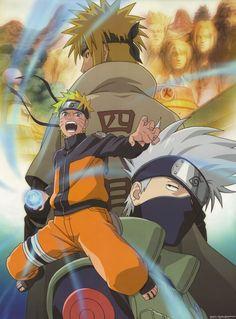 Naruto Shippuden Minato, Kakashi, Naruto